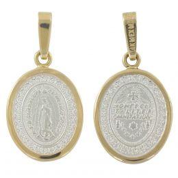 c24195fc6fae Vista rápida. Medalla Virgen De Guadalupe Con Bisel De 14K Villalpando