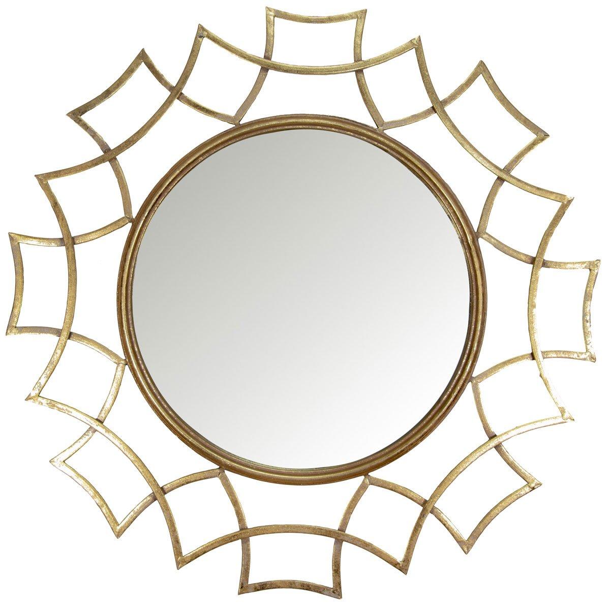 Home nature espejo de pared redondo sol dorado sears com for Espejo redondo pared