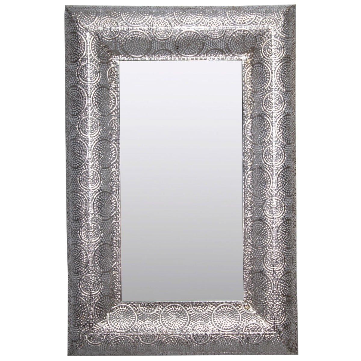 Home nature espejo de pared rectangular de metal sears for Espejo rectangular pared