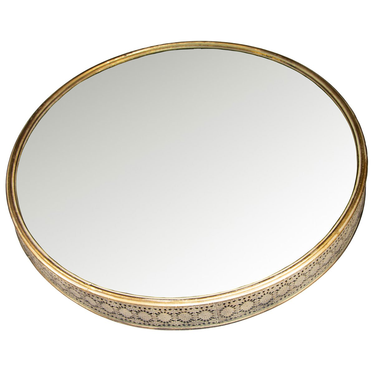 Home nature espejo de pared redondo de metal sears com for Espejo redondo pared