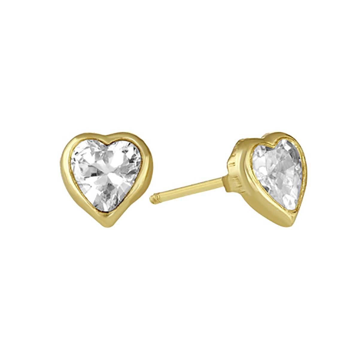 487b5554d747 Broquel de Oro 14K Biselado 4Mm Corazón Sabelli