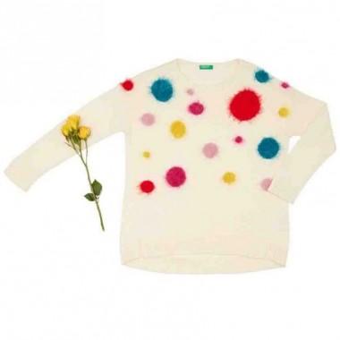 Suéter Color Blanco Benetton